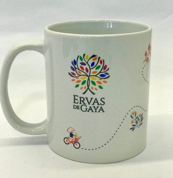 Xícara de porcelana Alegria
